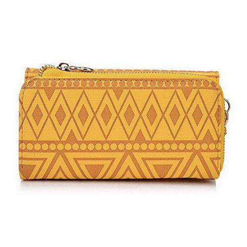 Kroo Pochette/étui style tribal urbain pour LG Escape 2 Multicolore - Noir/blanc Multicolore - jaune