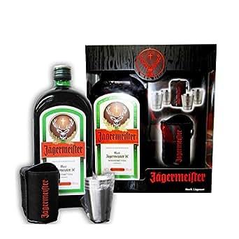 Jägermeister 70cl coffret 4 verres metal + sac