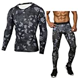 Compression Pantalon Homme Sport Leggings & Base Layer Collant T-Shirt S
