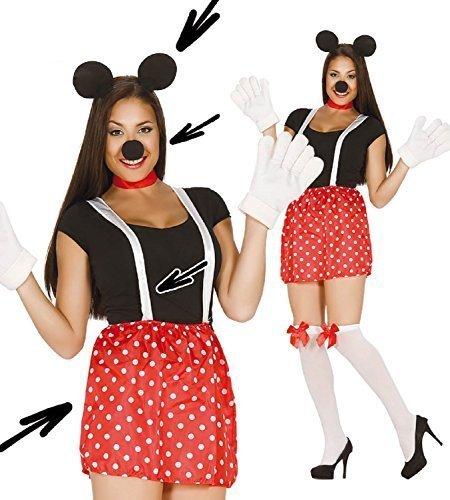 838 - Maus-Set, Mädchen (Süßes Minnie Maus Kostüm)