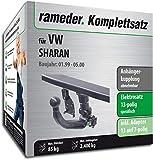 Rameder Komplettsatz, Anhängerkupplung abnehmbar + 13pol Elektrik für VW Sharan (112820-01312-1)