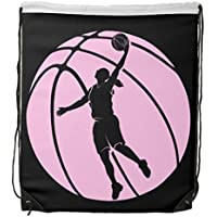 Visualizzazione Gym Bag Girl Basket Silhouette Shooting coulisse zaino