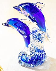 8'' Glass Dolphin Figurine by Beachcombers