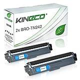 Kineco 2 Toner kompatibel für Brother TN-242 TN-246 für Brother MFC-9142CDN, HL3142CW, DCP-9017CDWG1,DCP-9022CDW, HL-3152CDW, MFC-9342CDW, HL-3172CDW, MFC-9332CDW - Schwarz je 2.500 Seiten