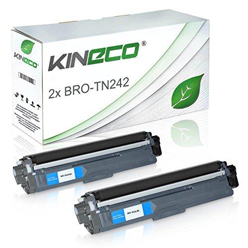Preisvergleich Produktbild 2 Toner kompatibel zu Brother TN-242 TN-246 für Brother MFC-9142CDN, HL3142CW, DCP-9017CDWG1,DCP-9022CDW, HL-3152CDW, MFC-9342CDW, HL-3172CDW, MFC-9332CDW - Schwarz je 2.500 Seiten