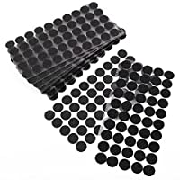 Self Adhesive Hook And Loop Stick on Dots/Coins/Circles - Black or White - 20mm