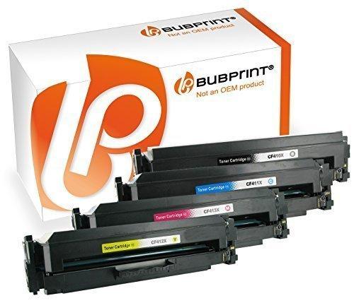 Bubprint 4er Set Toner Kompatibel Für HP Color LaserJet Pro M477fdw M477fdn M477fnw M452nw Drucker HP CF410X CF411X CF412X CF413X