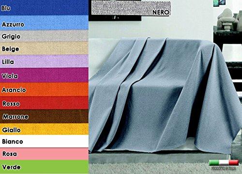 Centesimo web shop telo arredo copritutto in 4 misure - prodotto in italia gran foulard multiuso telo tuttofare copridivano copripoltrona tinta unita - 240x290 cm giallo