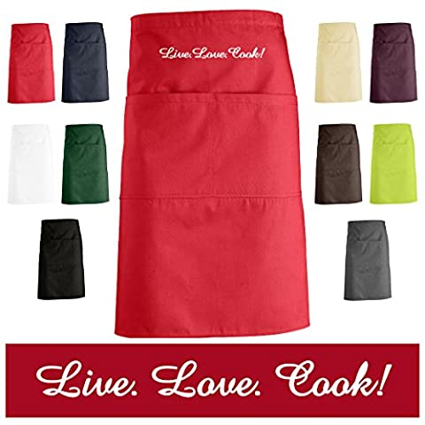 'Schno Push Quality Embroidered Kitchen Apron, Apron, Apron with