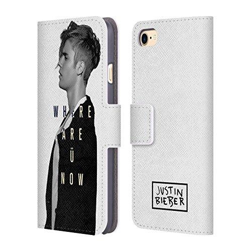 Offizielle Justin Bieber Mirrored Black And White Purpose SW Brieftasche Handyhülle aus Leder für Apple iPhone 6 Plus / 6s Plus Where Are U Now