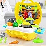 Navigatee Kinder Küche Kochutensilien Spielzeug Case Schminktisch Koffer Registrierkasse Koffer Werkzeug Arztkoffer