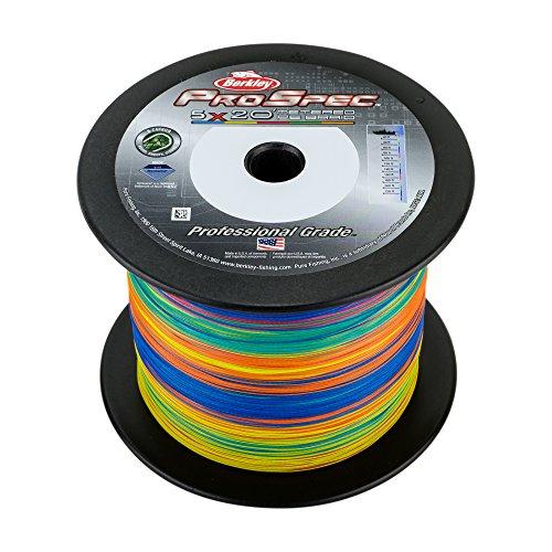 Berkley ProSpec Premium Super Line Angelschnur, geflochtene Angelschnur, Fishing Gear, 5-Color Metered Braid, 500-Yard/100-Pound -