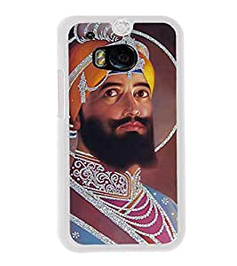 Guru Gobind Singh Ji 2D Hard Polycarbonate Designer Back Case Cover for HTC One M8 :: HTC M8 :: HTC One M8 Eye :: HTC One M8 Dual Sim :: HTC One M8s