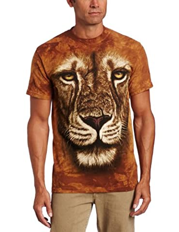 Garçon's The Mountain avec Lion Guerrier T-Shirt, X-Large