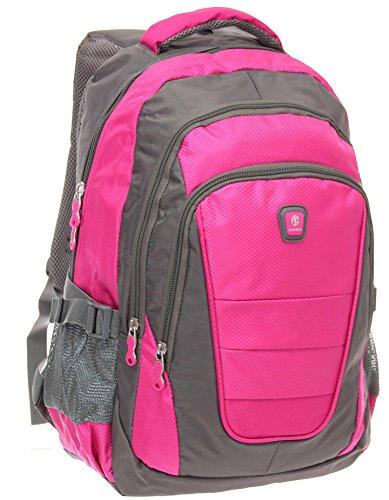 Rucksack, Schulrucksack, Sporttasche, Freizeitrucksack, City Rucksack, Arbeit, Sport, Schule, Uni, Freizeit (Pink)
