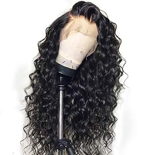 Curly Lace Front Echthaar-Perücken für Frauen-Schwarz-Farben-brasilianischer Spitze-Perücke, 1,22inches - Lace Sealer Perücke
