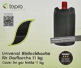 Tepro Universal Gasflaschenabdeckhaube, 11 kg, schwarz, 30 x 30 x 58 cm, 8115