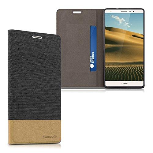 kwmobile Huawei Mate S Hülle - Stoff Handy Cover Case mit Ständer - Schutzhülle für Huawei Mate S