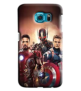 Blue Throat Three Super Heroes Printed Designer Back Cover/Case For Samsung Galaxy S6