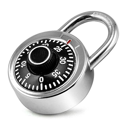 Stelar Rotary Digit Combination Code Padlock Safe Round Dial Number Lock for Luggage, Cupboard, Bicycle, Suitcase, Drawer, Cabinet etc(1 Pc), Silver