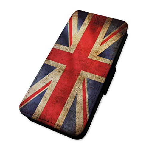 Bandiera Union Jack – rustico – Custodia ad aletta in pelle copertura di carta Apple iPhone 6/6S