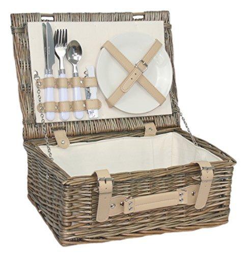 Picknick-Korb, Für 2 Personen, 35.56 cm (Teller Besteck Und Hochzeit)