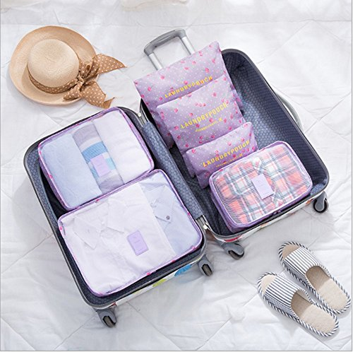 Swallowuk Reisepaket Tasche 6 Sätze, Reise Kleidung Koffer Finishing Beutel (12) 3