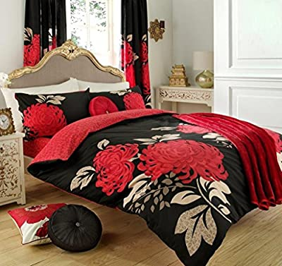 Duvet Cover and Pillowcase Set Quilt Bedding Set With Pillow Cases Single Double King Super King Size Printed Floral Check Stripe Reversible produced by De Lavish - quick delivery from UK.