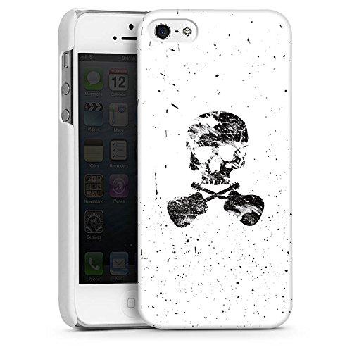 Apple iPhone 4 Housse Étui Silicone Coque Protection Un poète mort Tête de mort Crâne CasDur blanc