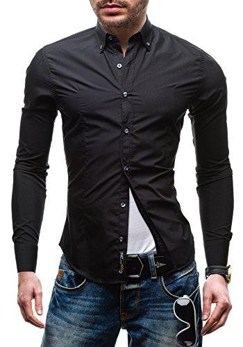 BOLF - Chemise casual - à manches longues – BOLF 1703-1 - Homme Noir