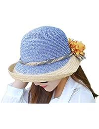 dae9eb62c8ff7 Sombreros Sombrero De Paja De 1X para Sombrero Plegable Mujer Ajustable  para Acogedor Sol Sombrero De