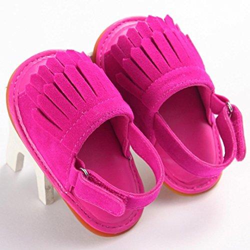 Igemy 1Paar Kleinkind Mädchen Krippe Schuhe Neugeborene Blume Soft Sohle Anti-Rutsch Baby Sneakers Sandalen Hot Pink