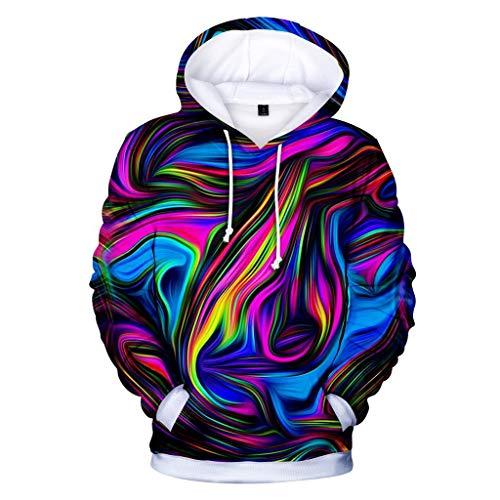 GJKK Herren Kapuzenpullover Unisex 3D Druck Hoodie Kreative Fun-Kapuzenpullover Casual Langarm Shirts Tops Hooded Sweatshirt Streetwear Hoodie Pullover Sportsweatshirts