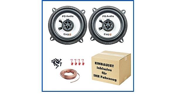 PG Audio 13 cm Coax 2-Wege-Koax Renault Megane 3 Lautsprecher-Set T/ür Vorne und Hinten