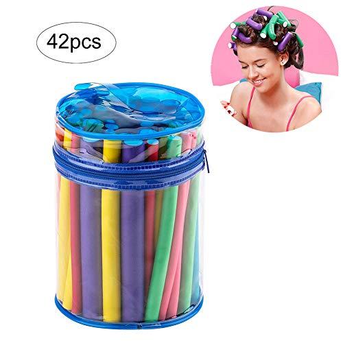Beito Rodillos de espuma de pelo 1 paquete de rulos para el cabello Juego de varillas flexibles Rodillos...