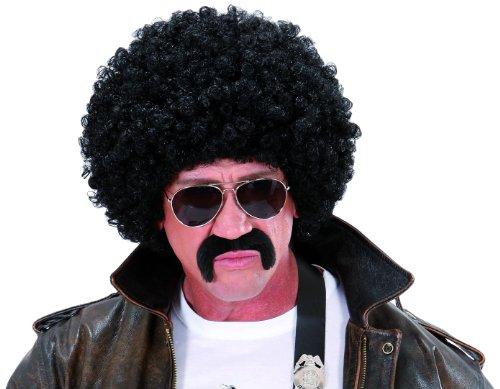 Widmann S7601 - Lockenperücke im Set mit Pilotenbrille und - Black Halloween-kostüm Afro