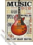 1art1 Inspiration Poster (91x61 cm) Music is Passion Et Kit De Fixation Transparent