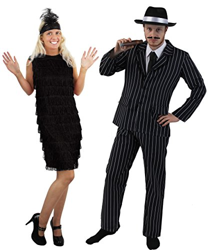 1920's GANGSTER & FLAPPER GIRL PÄRCHEN KOSTÜM IN -