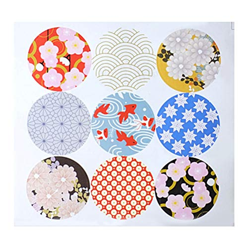 SUPVOX 1 Blatt Papier Aufkleber Runde Sticky Etiketten für Geschenke Hochzeit Geschenke einwickeln