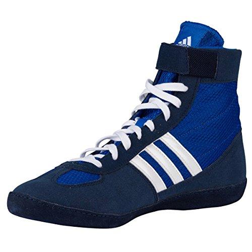 Adidas combattimento Velocità 4 Wrestling Scarpe gioventù Bahia Blu / calce Size 1.5 Royal,White,Navy
