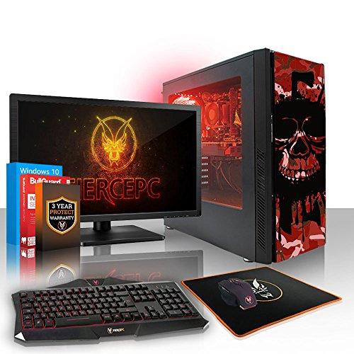 Fierce Cheetah High-End RGB Gaming PC Bundeln - 4.7GHz Hex-Core Intel Core i7 8700K, 240GB SSD, 1TB HDD, 16GB, NVIDIA GeForce RTX 2080 8GB, Win 10, Tastatur (QWERTY), Maus, 24-Zoll-Monitor 506052