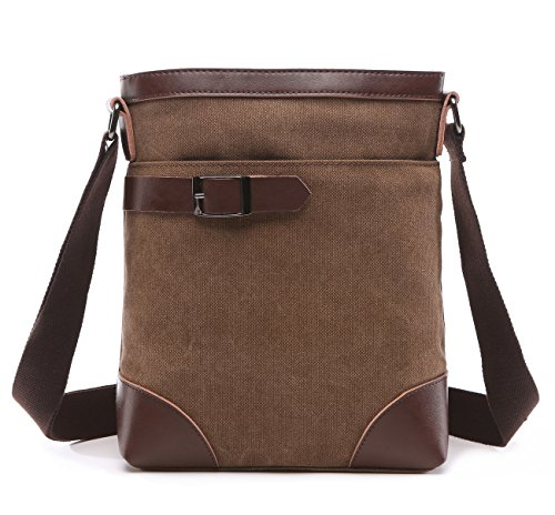 - 510WRMOI3wL - BAOSHA MS-07 Vintage Small Canvas Messenger Shoulder iPad Bags Cross Body Everyday Satchel Bag For Men & Women