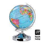 Globo Illuminato Che Gira - Blue Ocean World Earth Geography Map con Luce Notturna Desktop Decor per Home School Office