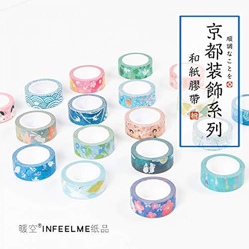 18 stücke Infeel. Me Kyoto Dekoration Japanischen Nagel Dekorative Washi Klebeband DIY Scrapbooking Masking Tape Schule Bürobedarf ()