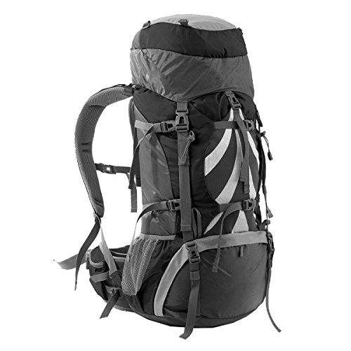 Yy.f 70L Taktischer Militärischer Rucksack Sport Outdoor-Angriffspakete Rucksäcke Rucksack Taschen Jagd Camping Wandern. 3 Farben Black