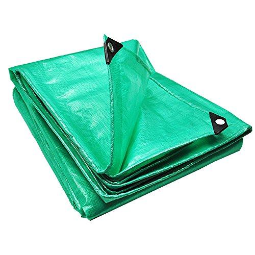 Zfggd 180 G/m² - Bâche de Protection pour toiture étanche en Plastique (Couleur : Green, Taille : 5 * 5m)