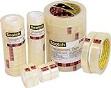 SCOTCH Lot de 8 Rubans adhésif transparent 550, 19 mm x 66 m sous film individuel