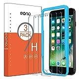 Eono by Amazon - Pellicola Protettiva Compatibile con iPhone 6/6s/7/8 in Vetro Temperato Trasparenza 99,99% Durezza 9H Applicatore Incluso Senza Bolle (3 Pezzi)