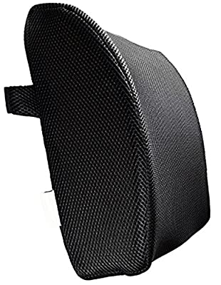 3d Mesh Chair Black Lumbar Support Pillow Back Rest Chair Cushion Memory Foam Support Travel Ol4 produced by ORTHOLOGICS - quick delivery from UK.