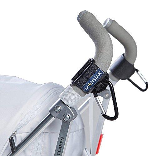 Preisvergleich Produktbild MONSTAR Kinderwagen Haken - Klett Kinderwagen Verschluss Doppe Paket